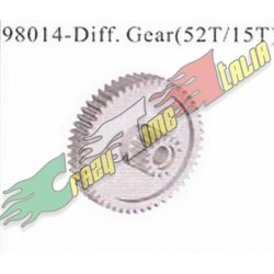 RICAMBI HIMOTO / HSP 98014 - DIFF. GEAR (52T/15T)
