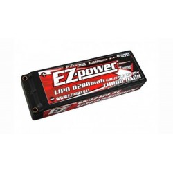 EZPOWER - BATTERIE LIPO 6200MAH 2S 60C/120C HARD CASE