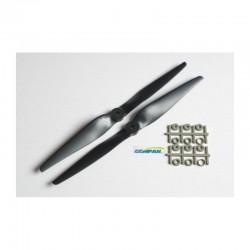 GEMFAN - Coppia Eliche caricate al carbonio 11x50 stile Graupner