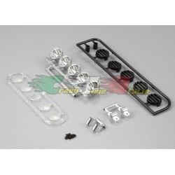 KILLERBODY 48280- KIT 5PZ PARABOLE LUCI PER TETTO CRAWLER 1/10