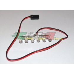 Kit luci composto da 6 LED bianchi attacco JST