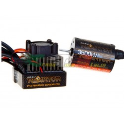 REAKTOR MOTORE BRUSHLES COMBO 35A PER AUTO 1/10 + CENTRALINA