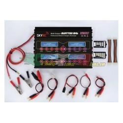 SKY RC 4B6AC - CARICABATTERIE 220V MULTIPLO PER 4 BATTERIE 4X50 watt