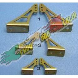 SQUADRETTE IN ALLUMINIO GOLD L120 X H30mm 2PZ