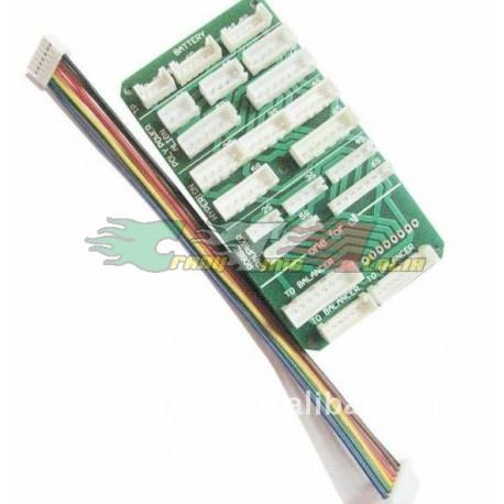 Basetta multicollegamento per caricabatterie o bilanciatori