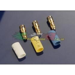 TRAXXAS 3342 - CONNETTORI DORATI 3,5mm + TERMORESTRINGENTI (3)