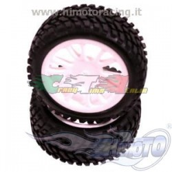 HIMOTO 19220W - COPPIA GOMME + CERCHI 1/16 ON OFF ROAD